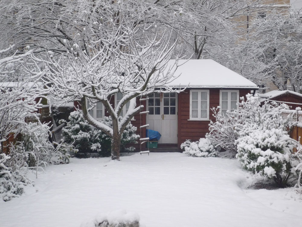 Heating a garden room in winter