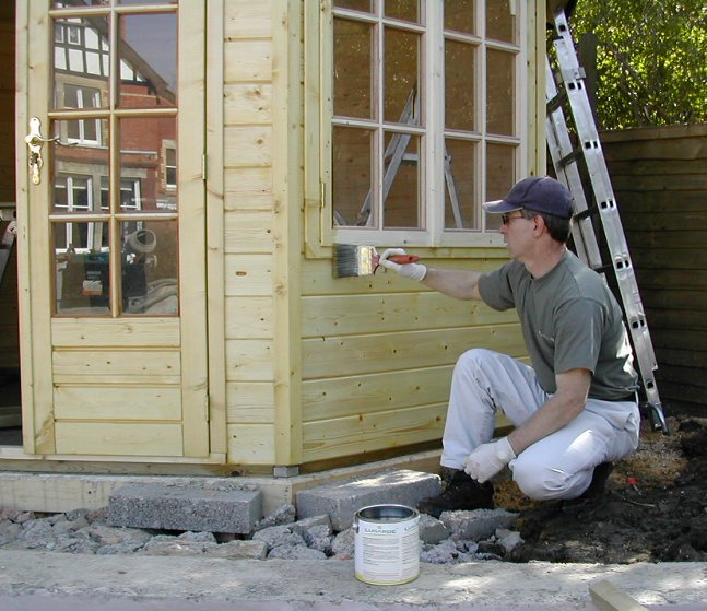 Painting A Timber Building