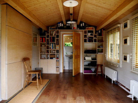 Heating a garden office and other energy costs for Garden office ideas uk