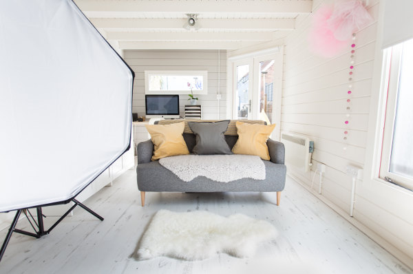 Log Cabin photography studio interior