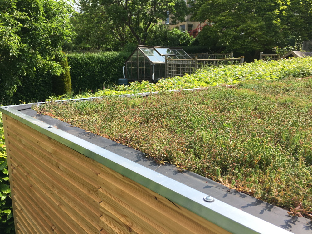 green roof garden building