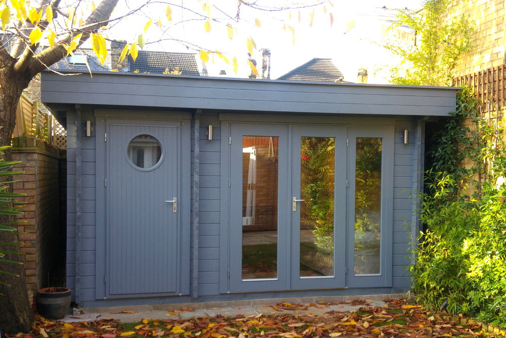 small salcombe garden office & store room
