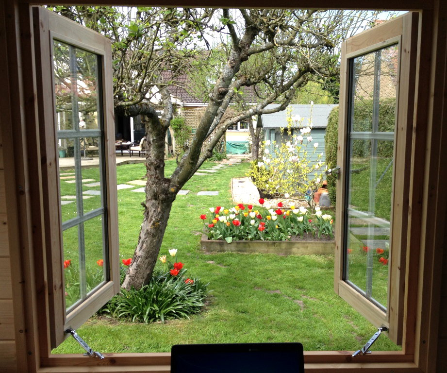 Position your garden office with a view