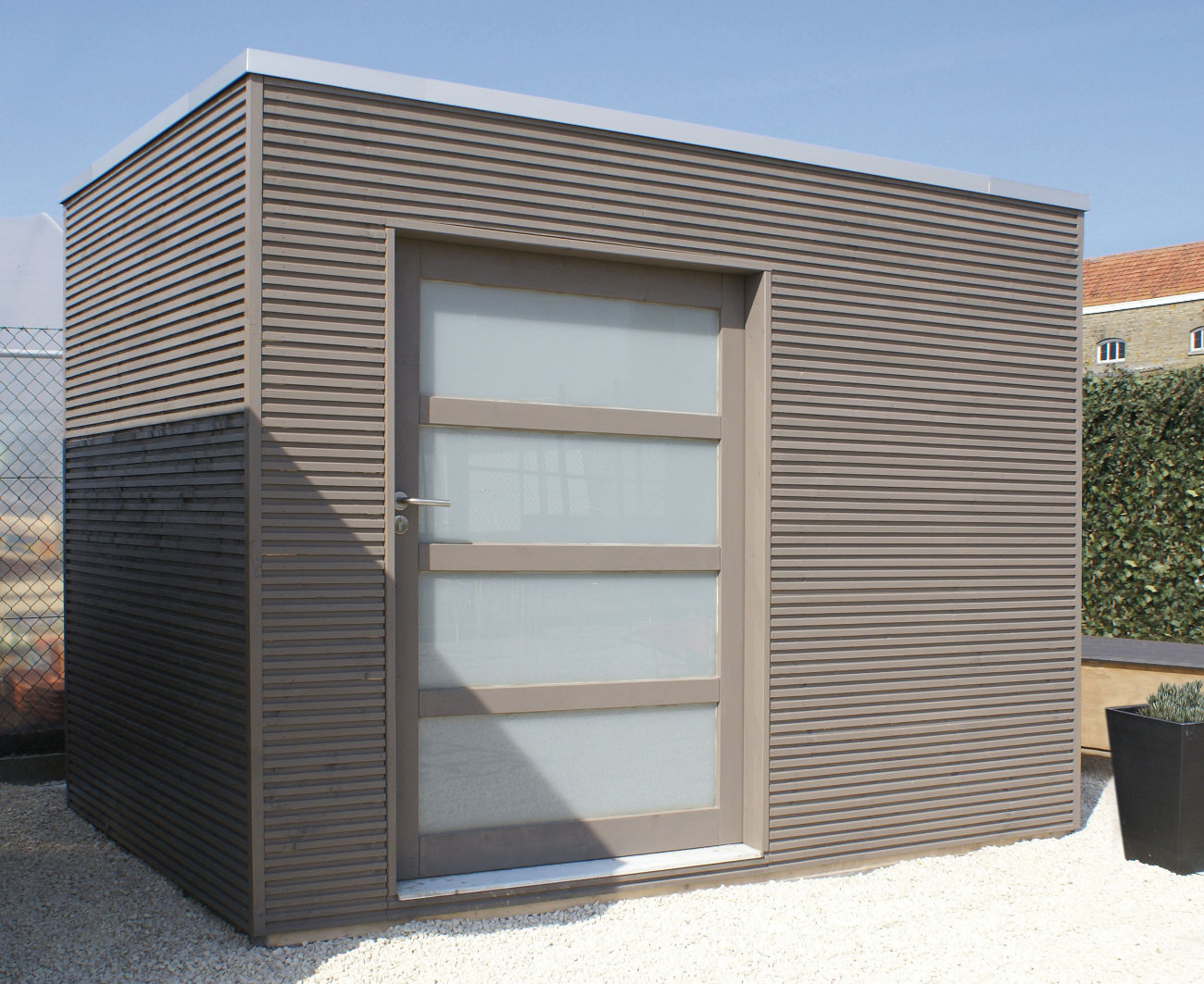 Choose the size you require Tokyo E Contemporary Shed & Quality Contemporary Sheds - Hardwood or Softwood