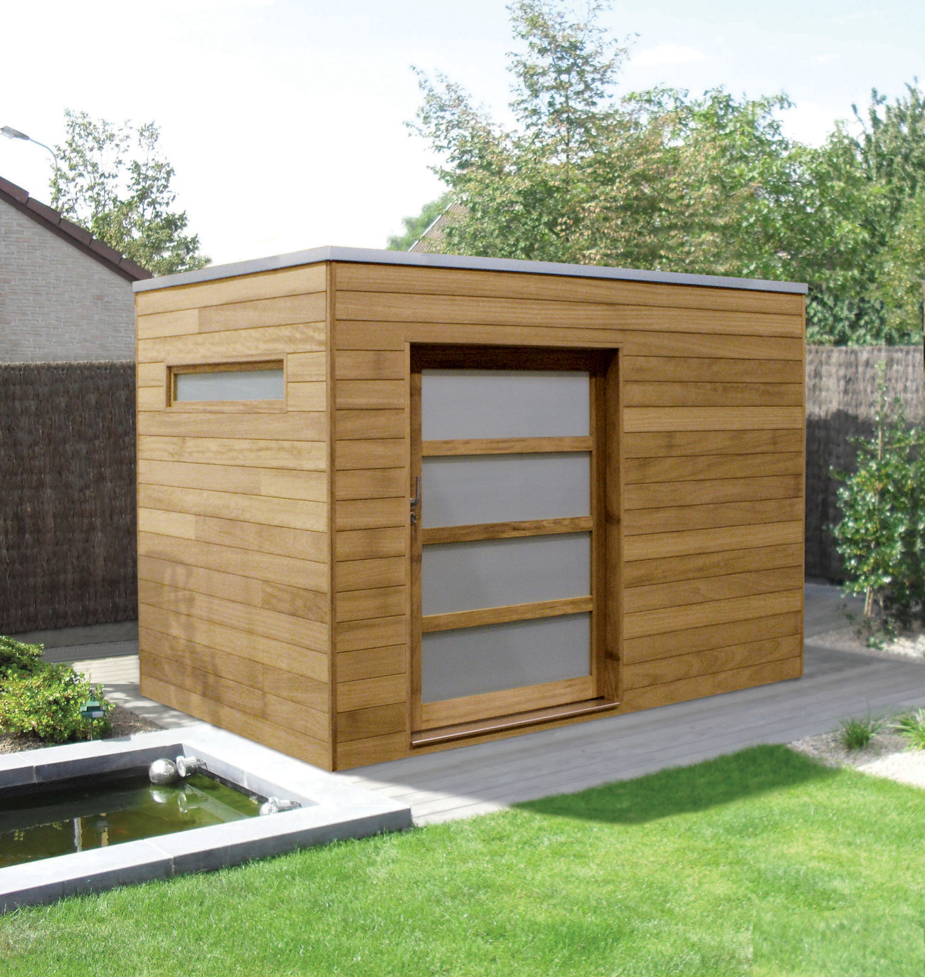 quality contemporary sheds hardwood or softwood